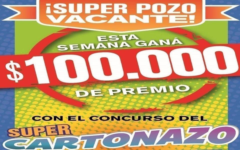 El Cartonazo reparte $100.000 y vos podés ser el próximo afortunado
