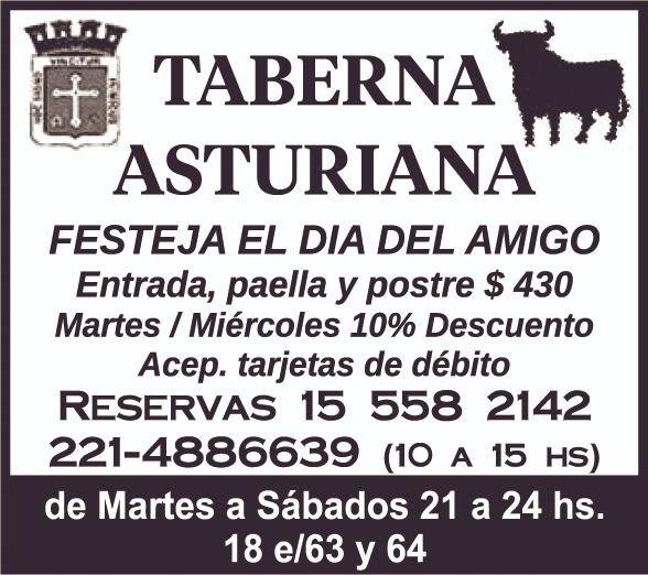 Festejá el Día del Amigo en Taberna Asturiana