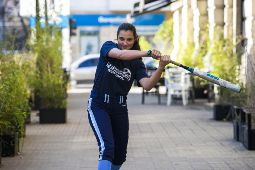 Maitena, la chica de selección que anima fiestas para viajar al Sudamericano de sóftbol