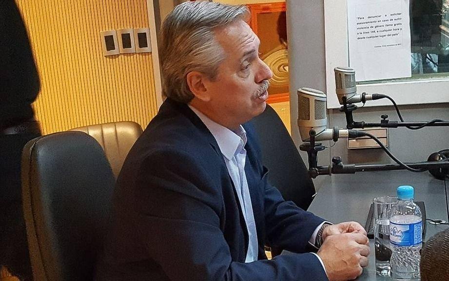 """A. Fernández en Córdoba: se cruzó con un periodista y dijo que La Cámpora """"maduró"""""""