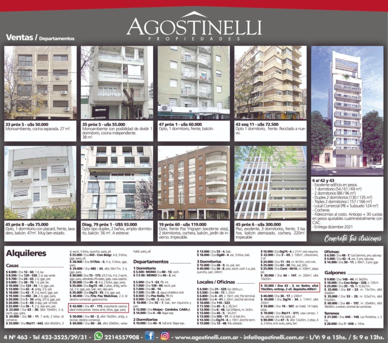 Cuando quieras alquilar, comprar o vender, Agostinelli propiedades