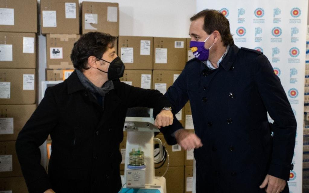 Kicillof entregó otros 17 respiradores para centros de salud de La Plata
