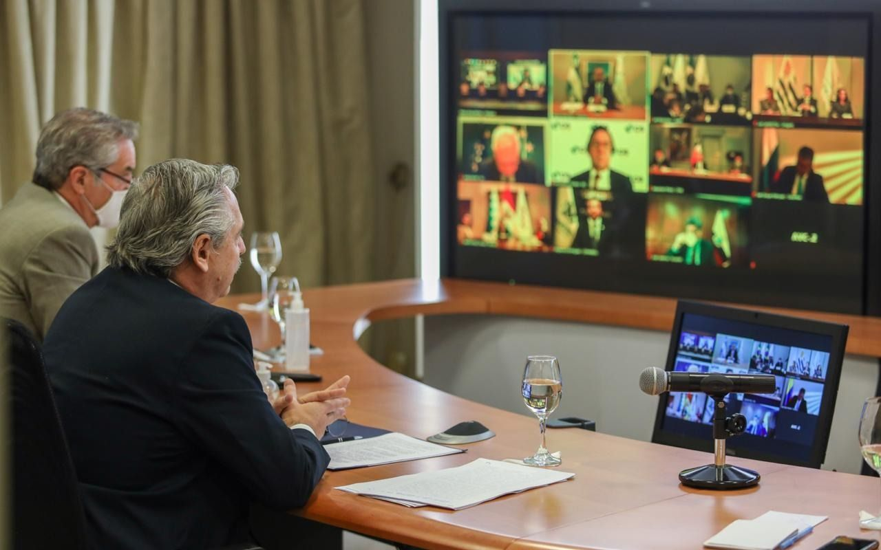 """Alberto Fernández y un mensaje hacia el Mercosur: """"Estoy aquí para que nos unamos"""""""