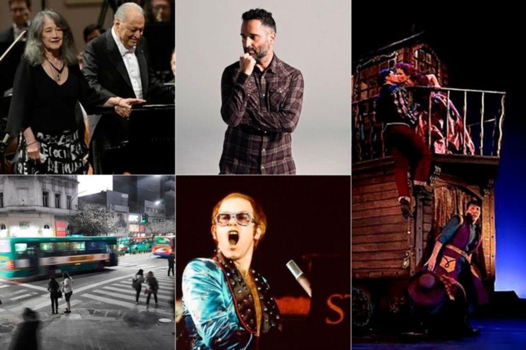 Cartelera virtual: Elton John, Drexler, un Cyrano argentino y Argerich y Mehta juntos