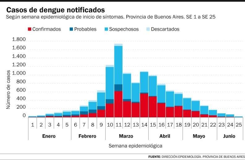 Dengue: en La Plata hay 213 casos, pero por el frío la curva de contagios baja