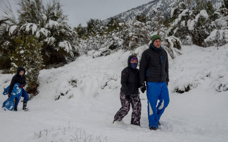 Bariloche: intensas nevadas y advierten por el riesgo de avalanchas