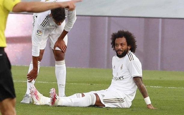 El brasileño Marcelo está lesionado y se perderá lo que resta de la Liga