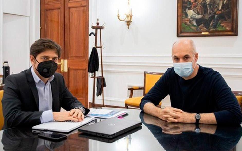 Kiciloff y Larreta se verán las caras mañana para analizar la  flexibilización de la cuarentena