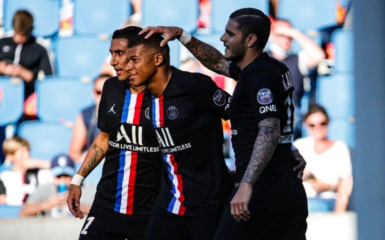 Con la mira en la Champions, PSG goleó en un amistoso con doblete de Icardi