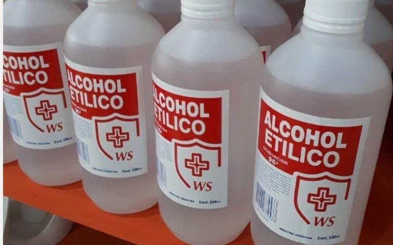 Prohíben la venta de un alcohol y desinfectante