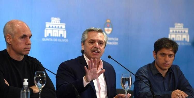 Reunión cumbre del Presidente con Kiciloff y Larreta para determinar el futuro de la cuarentena