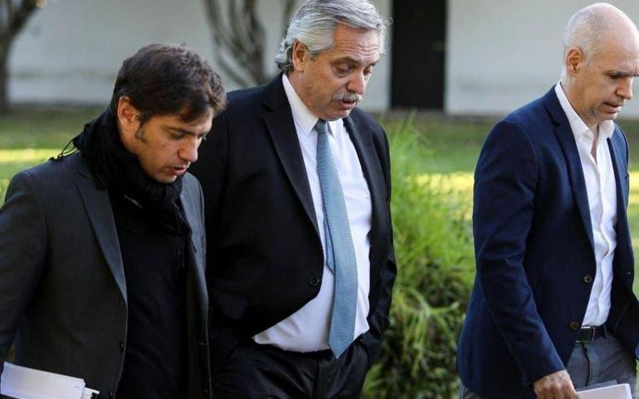 Terminó la reunión en Olivos entre Alberto F., Kiciloff y Larreta: el anuncio se hará el viernes