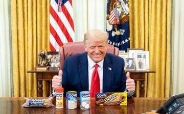 Trump publicita marca de productos alimenticios boicoteados por latinos