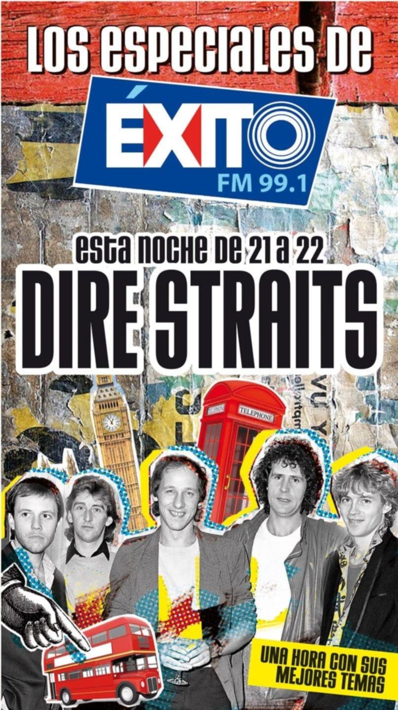 Esta noche llega Dire Straits a los especiales de Éxito FM 99.1