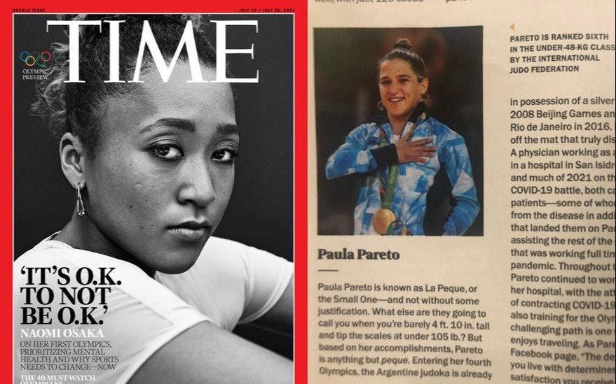 """La Revista """"Time"""" destaca a Paula Pareto por ser una heroína del deporte que dio batalla contra el COVID: """"The Small One"""""""
