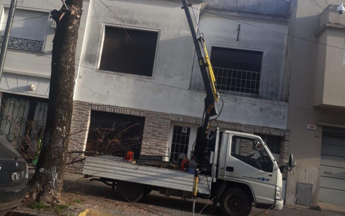Una vecina del Centro denunció que le rompieron una ventana durante una poda