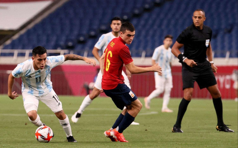 Argentina empató con España y se terminó el sueño olímpico en fútbol