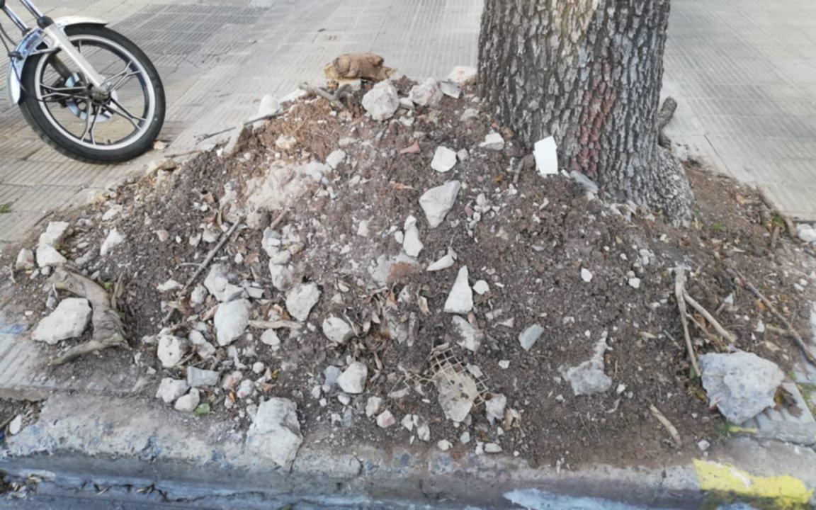Reclaman la erradicación de unmontículo de tierra y escombro en 19 y 49