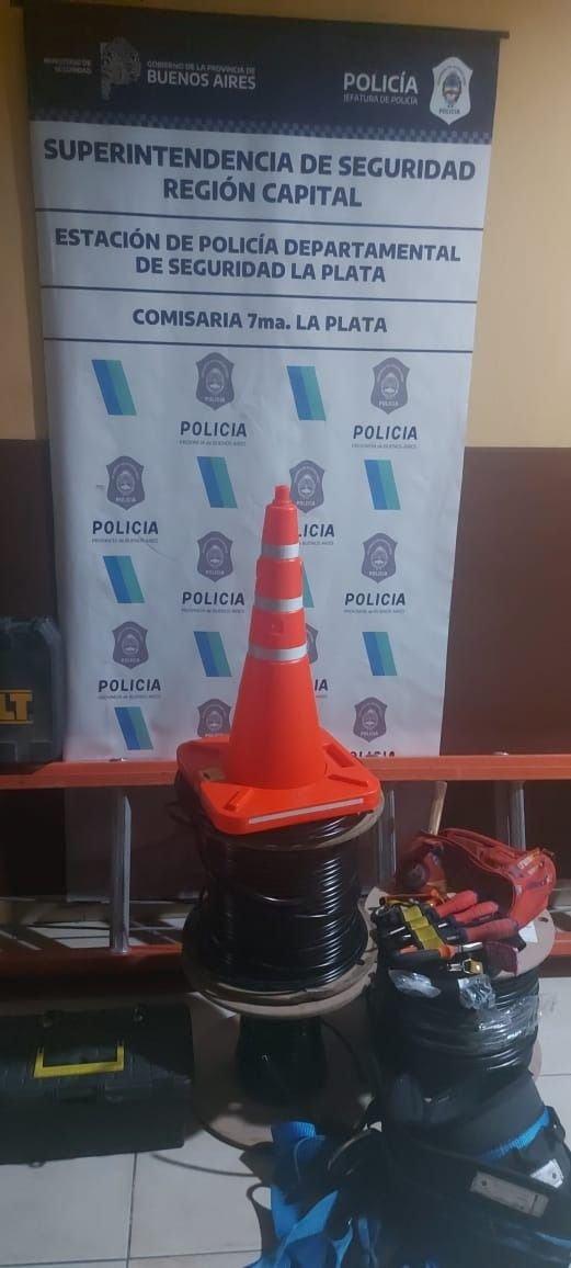 """La pandemia de los """"roba cables"""": más detenidos por operativos policiales en la Región"""