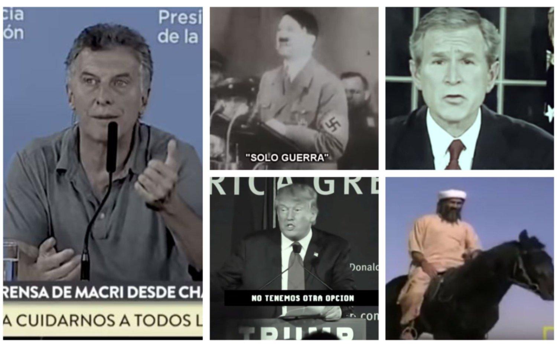 Polémica por un video de la CPM que compara a Macri con Hitler, Bush, Trump y Bin Laden
