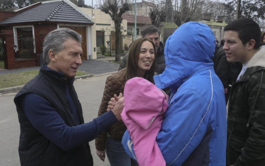 Macri y Vidal encabezaron el timbreo de Cambiemos en la ciudad de Luján