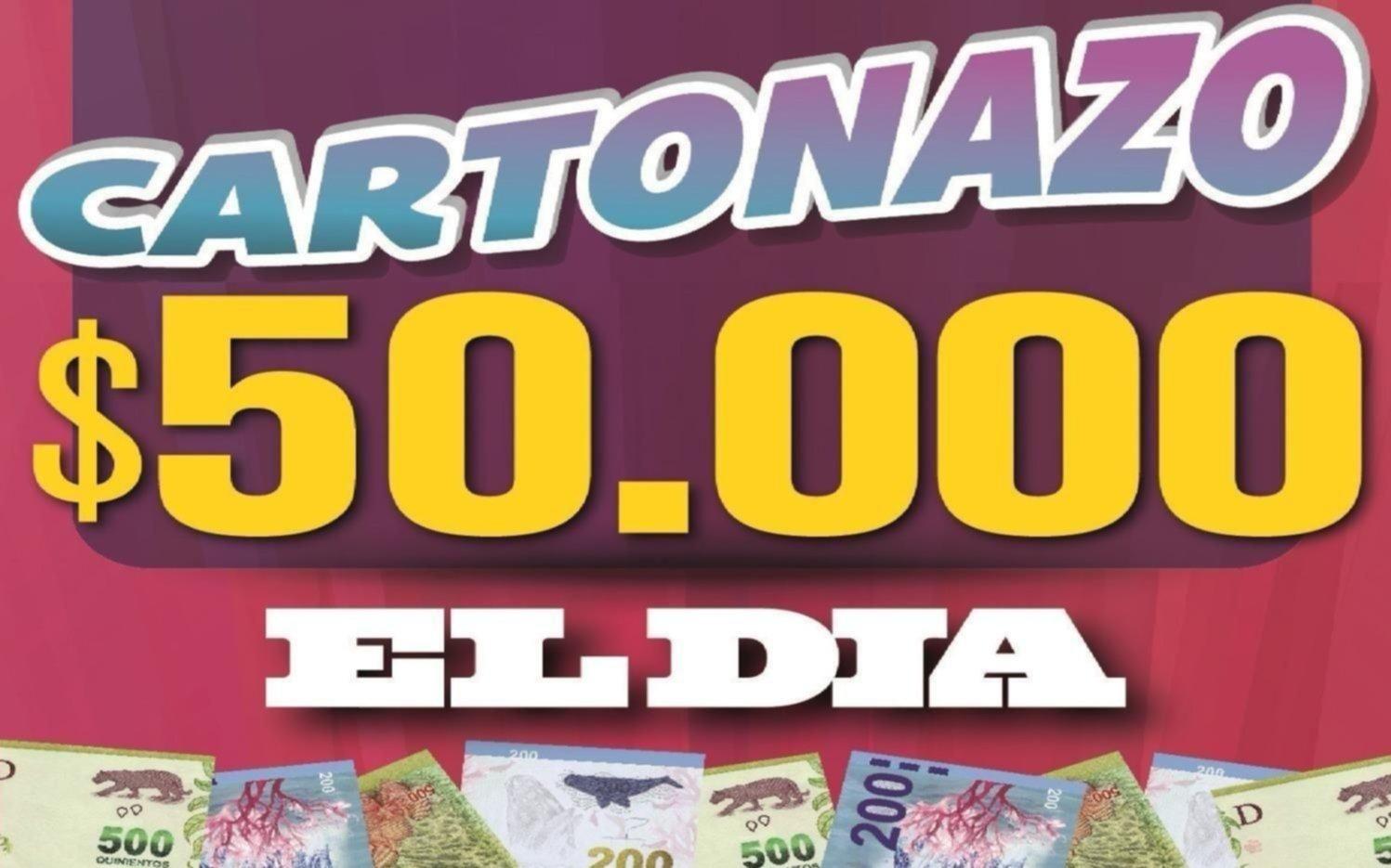 Controlá el Cartonazo, $50.000 pueden ser tuyos