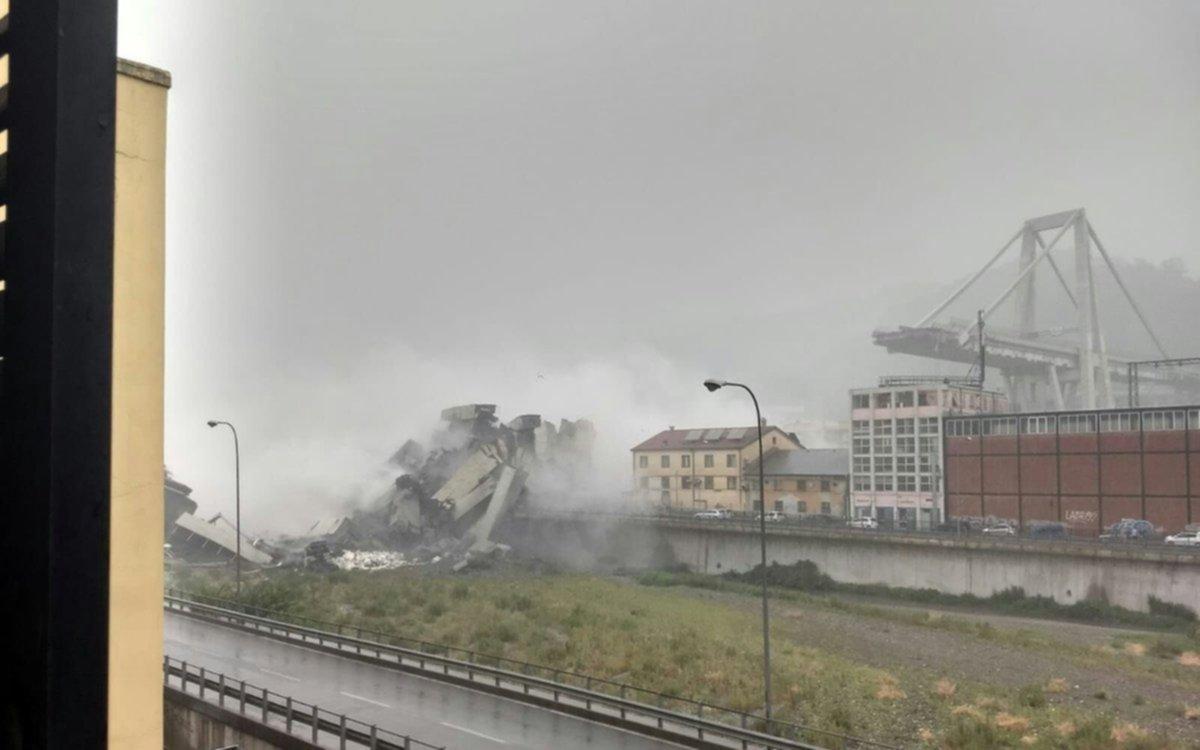 Se desploma un viaducto en Italia: Van 22 muertos y varios heridos