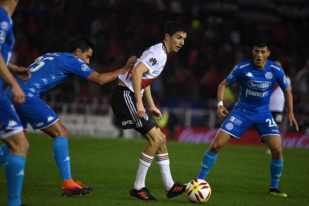 River, con Quintero y Borré, no pasa del empate ante Argentinos Juniors