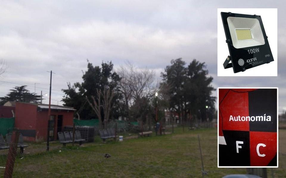 Desolación en un club de fútbol infantil de Tolosa: se robaron la iluminación de la canchita