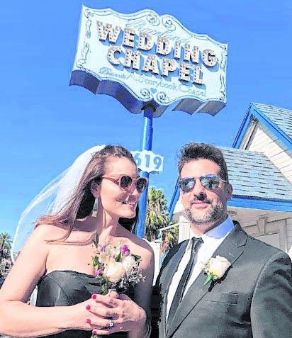 Listorti y su mujer renovaron los votos en Las Vegas