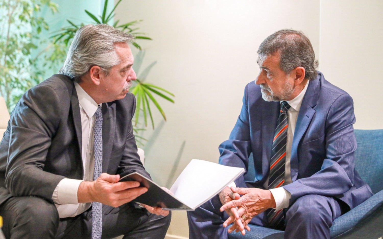 Alberto Fernández se reunió con el senador Caserio para coordinar actividades en Córdoba