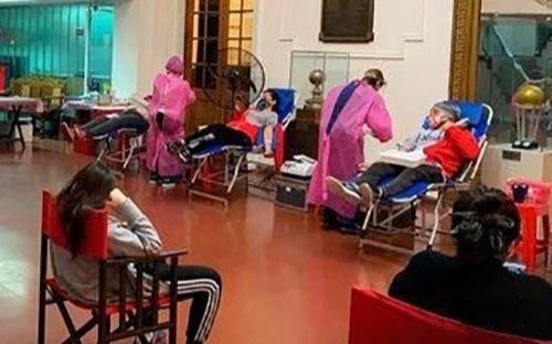 Exitosa donación de sangre en la sede albirroja