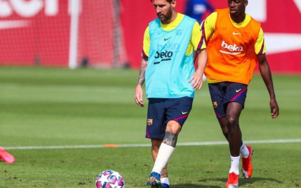 Messi se entrenó vendado y todo Barcelona espera que pueda jugar