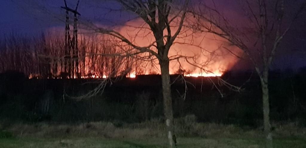 Alarma por un incendio en la costa de Quilmes