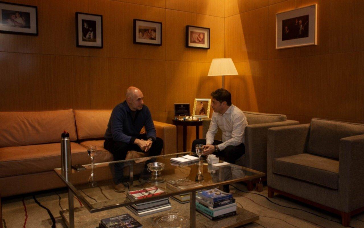 Kicillof y Rodríguez Larreta se reunieron para analizar la situación en La Plata y el AMBA