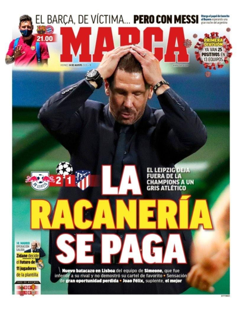 Los medios españoles no perdonan a Simeone por la eliminación de la Champions