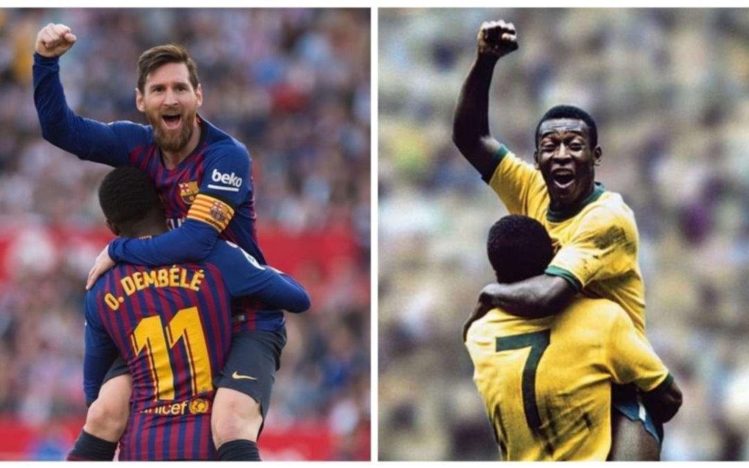 Un récord histórico que tiene Pelé hace 50 años amenazado por Messi
