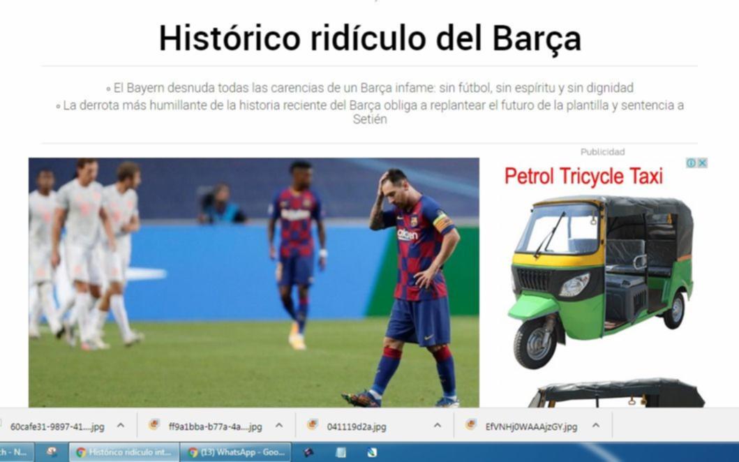 """Para los diarios catalanes, la caída del Barcelona fue una """"humillación"""""""
