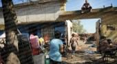 Tensión en un desalojo en pleno barrio Hipódromo