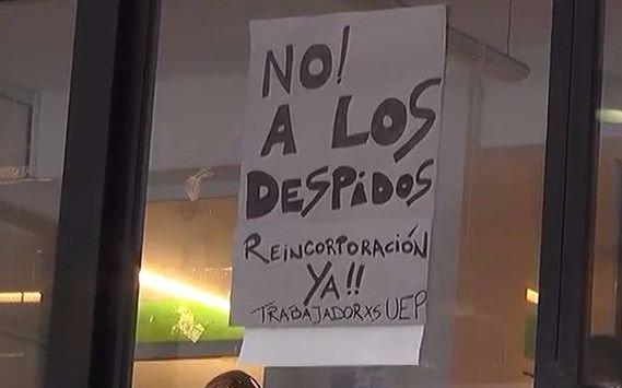 Video: Protestas por despidos en la UEP