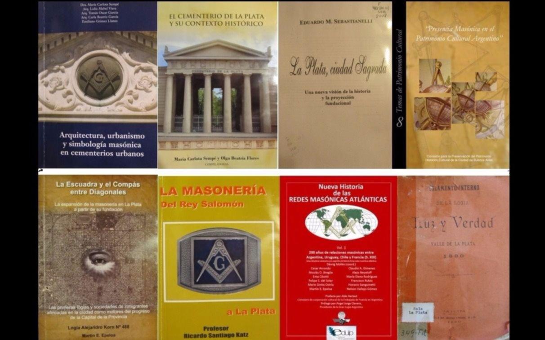 Diez libros sobre la masonería en la ciudad de La Plata