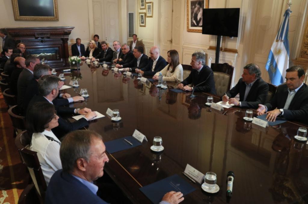 Macri consiguió el apoyo político de los gobernadores por el Presupuesto 2019