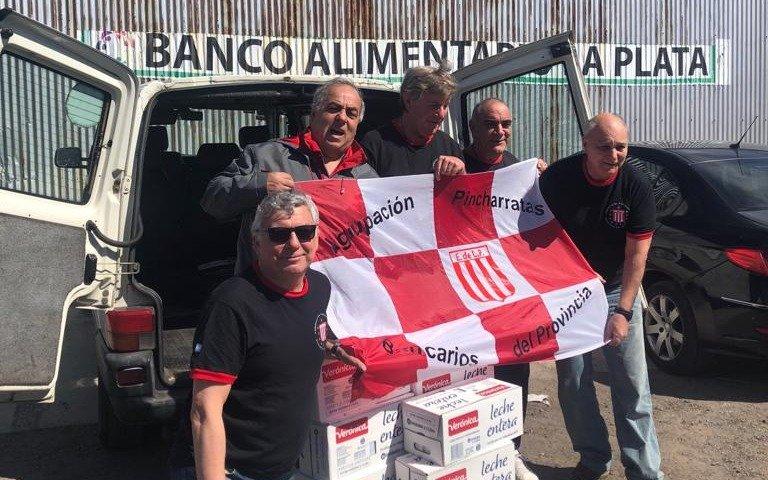 Acción solidaria de la Agrupación Pincharrata Bancarios del Provincia