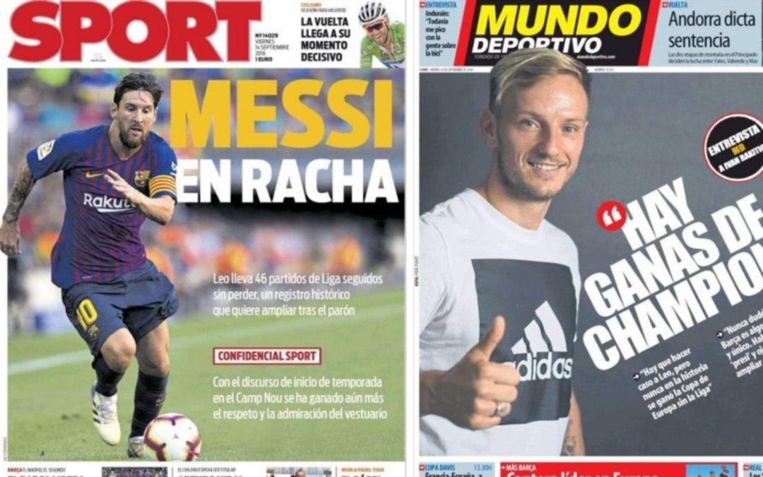 Lio Messi sigue haciendo historia y los medios españoles lo destacan