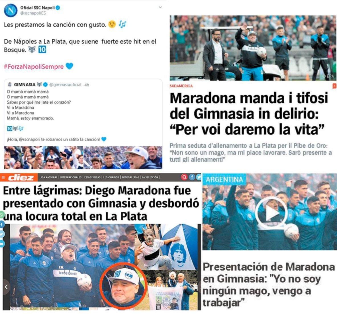 ¡Repercusión mundial! La presentación de Maradona estuvo en boca de todos