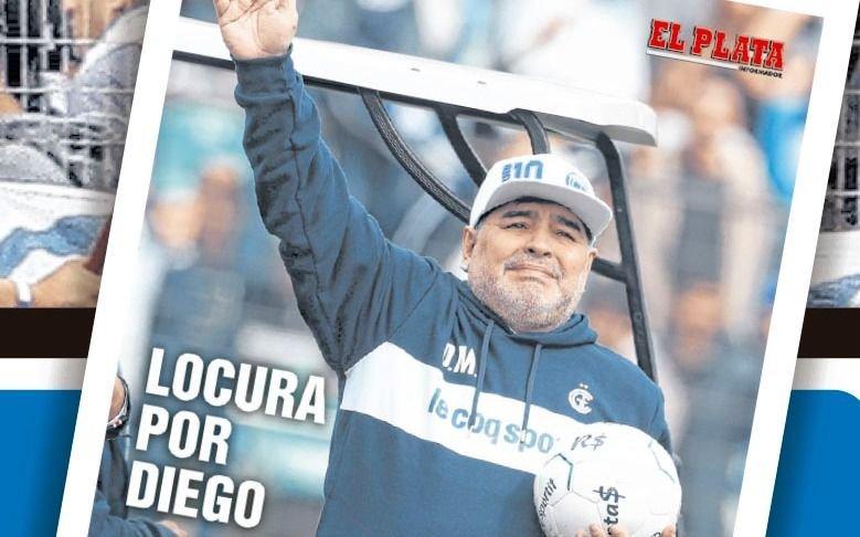Hoy gratis con el diario EL PLATA, lámina gigante de Maradona en el Lobo