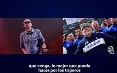 El Indio Solari y su mensaje para Maradona y los Triperos