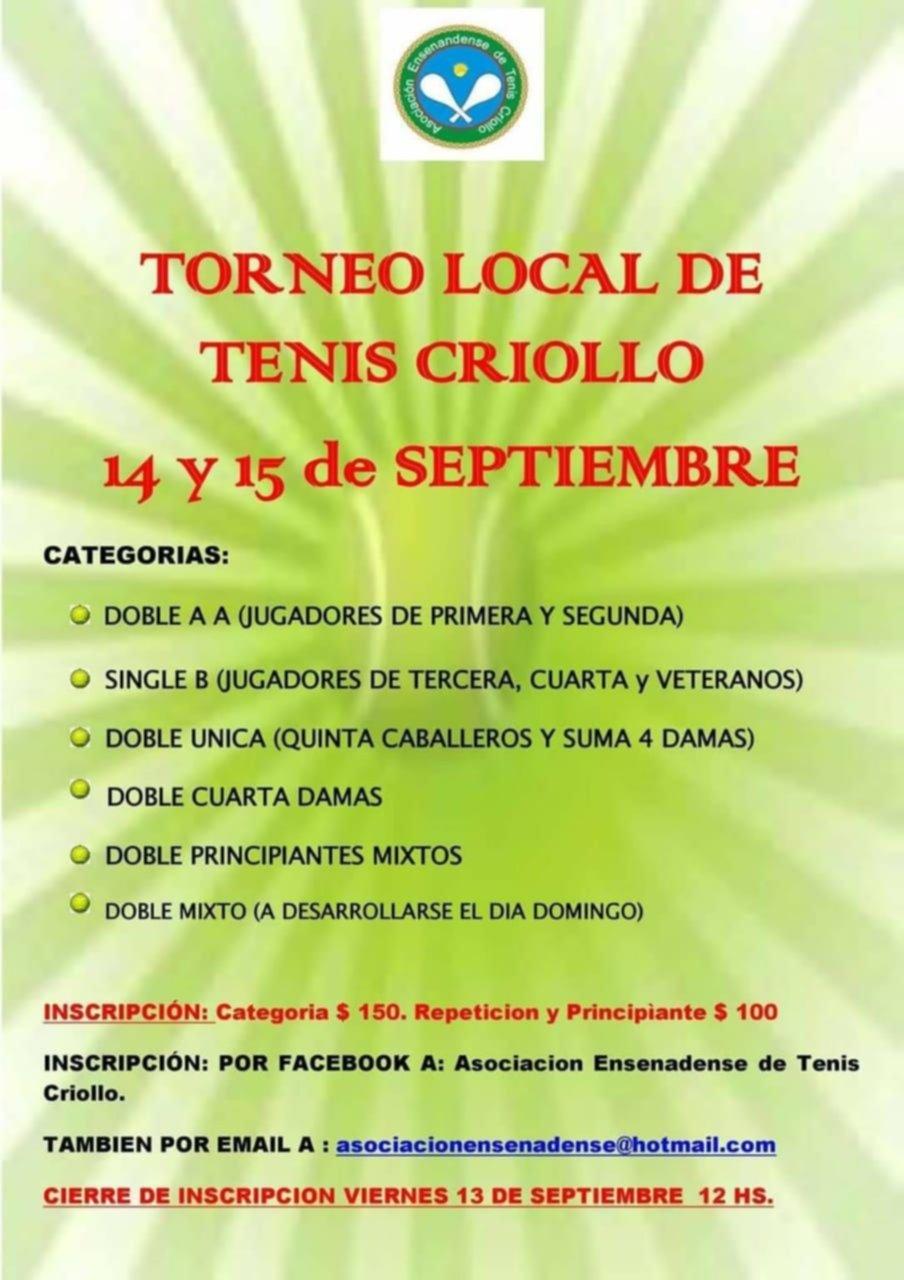 Torneo de Tenis Criollo en Ensenada