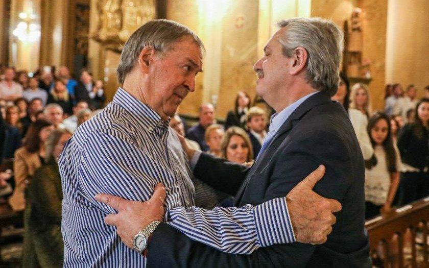 """Alberto Fernández, en la misa por De la Sota, dijo que """"la Argentina tiene que crecer en armonía"""""""