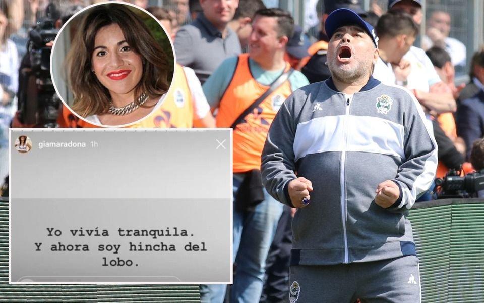 """Giannina Maradona: """"Ahora soy hincha del Lobo"""""""